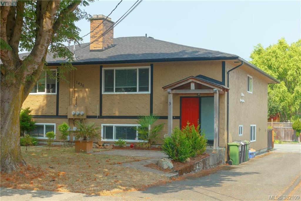 Main Photo: 3 1430 Walnut Street in VICTORIA: Vi Fernwood Strata Duplex Unit for sale (Victoria)  : MLS® # 382109