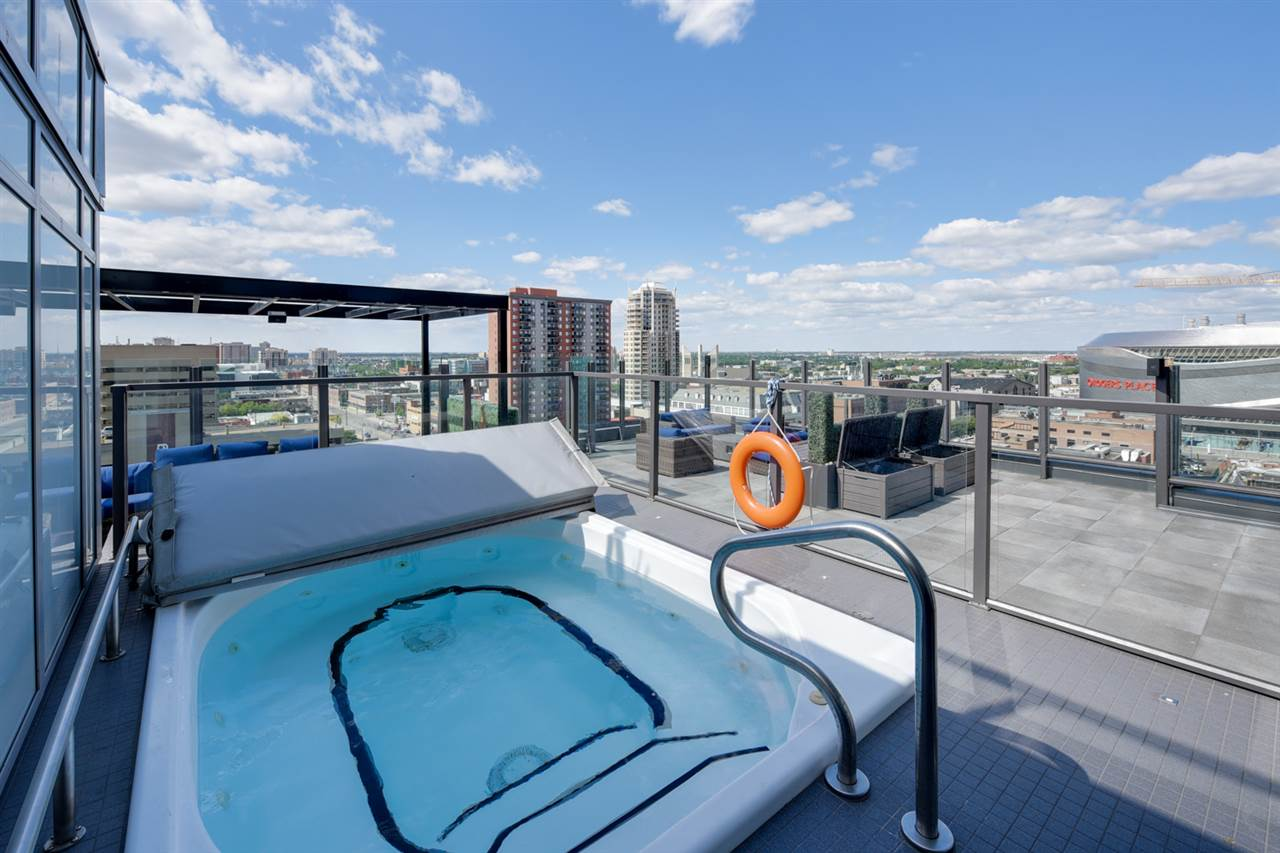 10th floor patio with hot tub