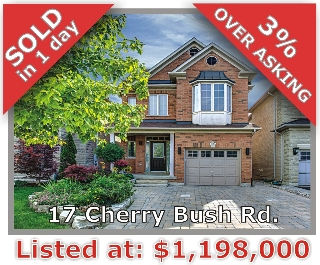 Main Photo: 17 Cherry Bush Rd in Vaughan: Patterson Freehold for sale