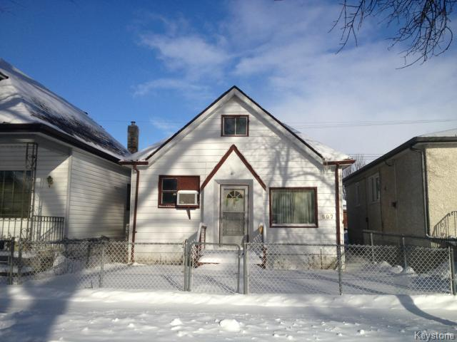 Main Photo: 607 Boyd Avenue in WINNIPEG: North End Residential for sale (North West Winnipeg)  : MLS® # 1502169