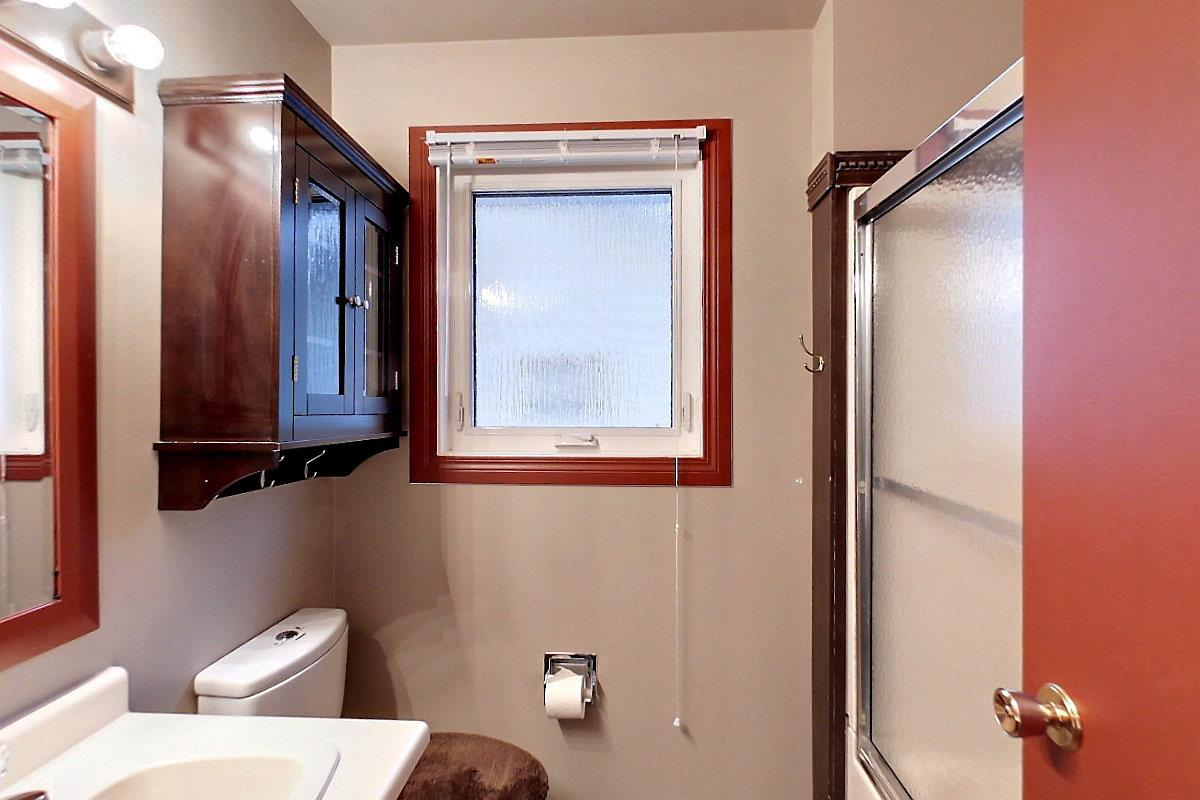 4 pc bathroom upstairs with new tinted bathroom glass window. Includes Bath/shower.