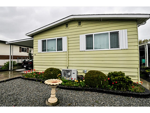 "Main Photo: 40 1640 162 Street in Surrey: King George Corridor Manufactured Home for sale in ""CherryBrook Park"" (South Surrey White Rock)  : MLS® # F1437420"