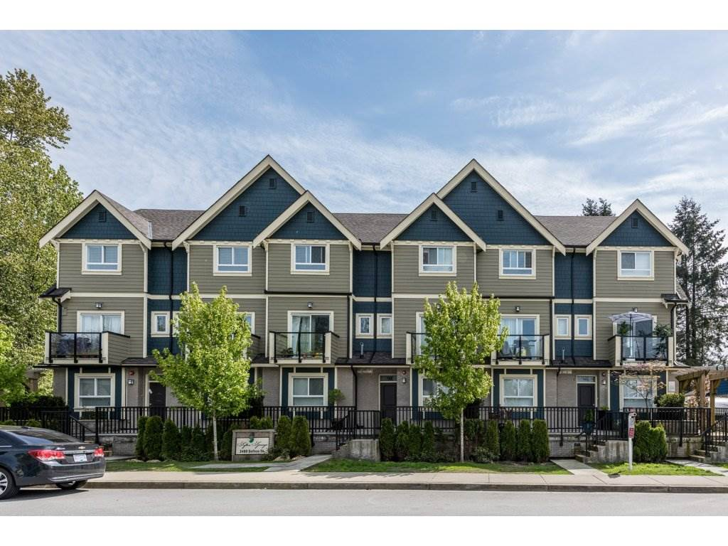 "Main Photo: 208 3488 SEFTON Street in Port Coquitlam: Glenwood PQ Townhouse for sale in ""SEFTON SPRINGS"" : MLS® # R2165688"