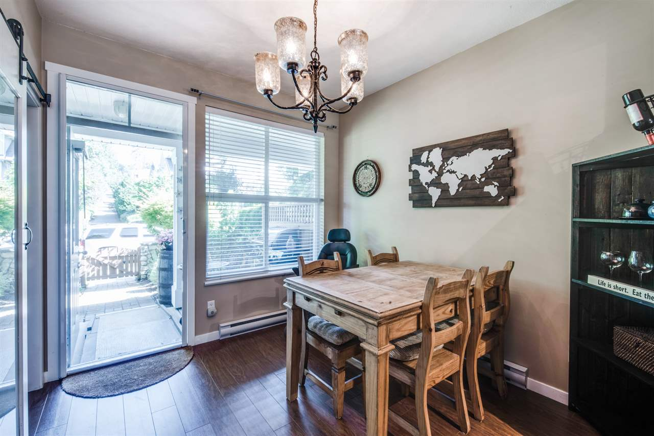 Open-concept dining room