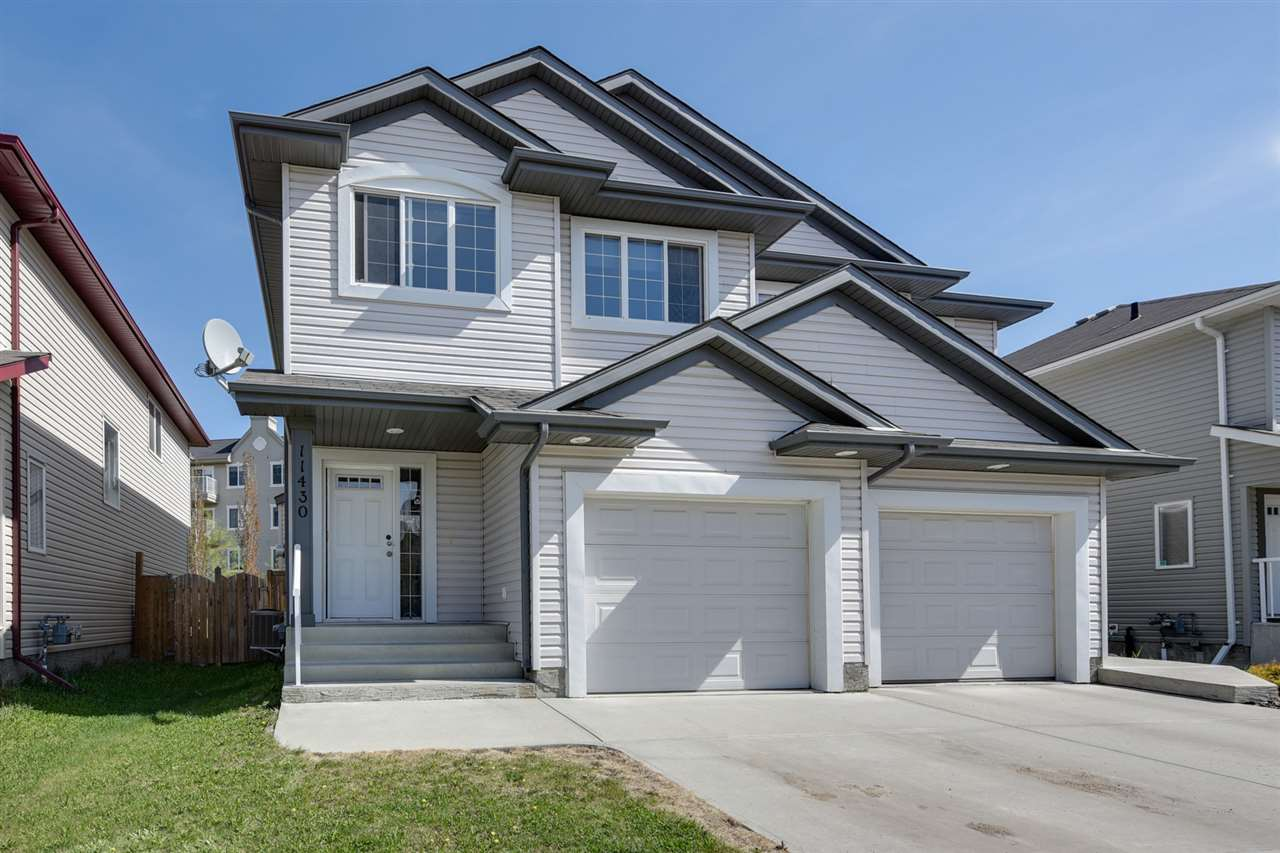 Main Photo: 11430 13 Avenue in Edmonton: Zone 55 House Half Duplex for sale : MLS®# E4111380