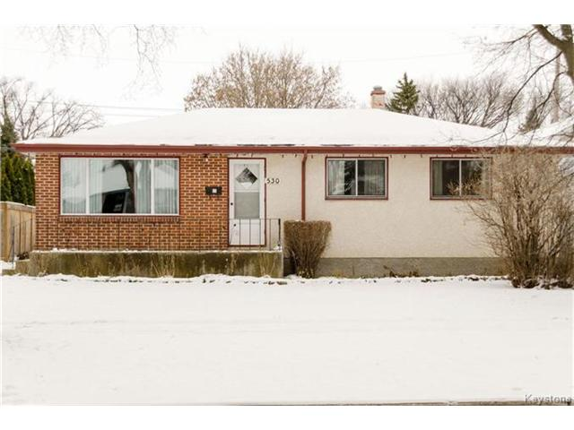 Main Photo: 530 Rosseau Avenue West in Winnipeg: West Transcona Residential for sale (3L)  : MLS® # 1630343
