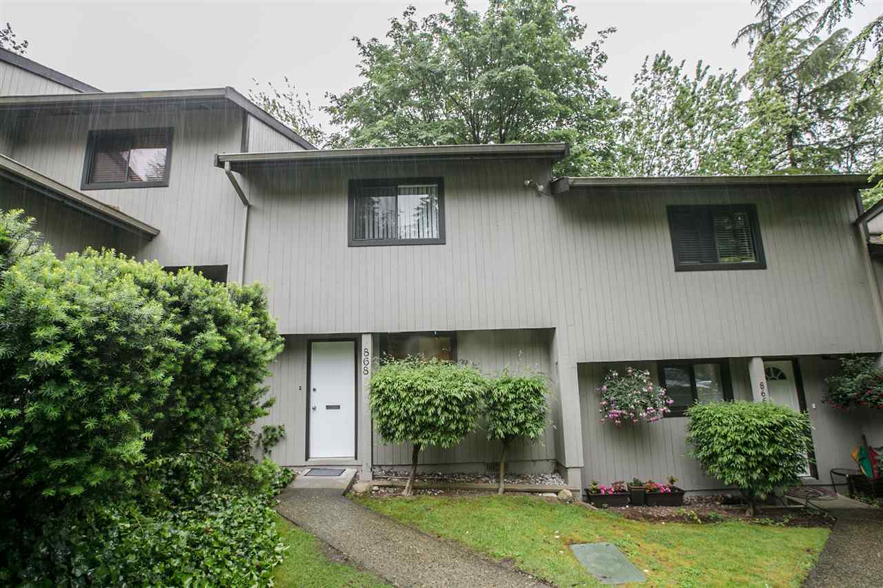 Main Photo: 868 BLACKSTOCK Road in Port Moody: North Shore Pt Moody Townhouse for sale : MLS(r) # R2176223