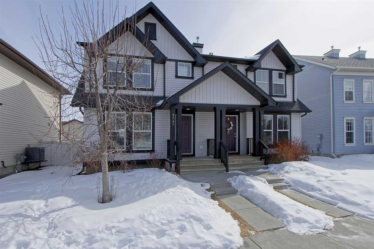 Main Photo: 5943 SOUTH TERWILLEGAR Boulevard NW in Edmonton: Zone 14 House Half Duplex for sale : MLS®# E4104465