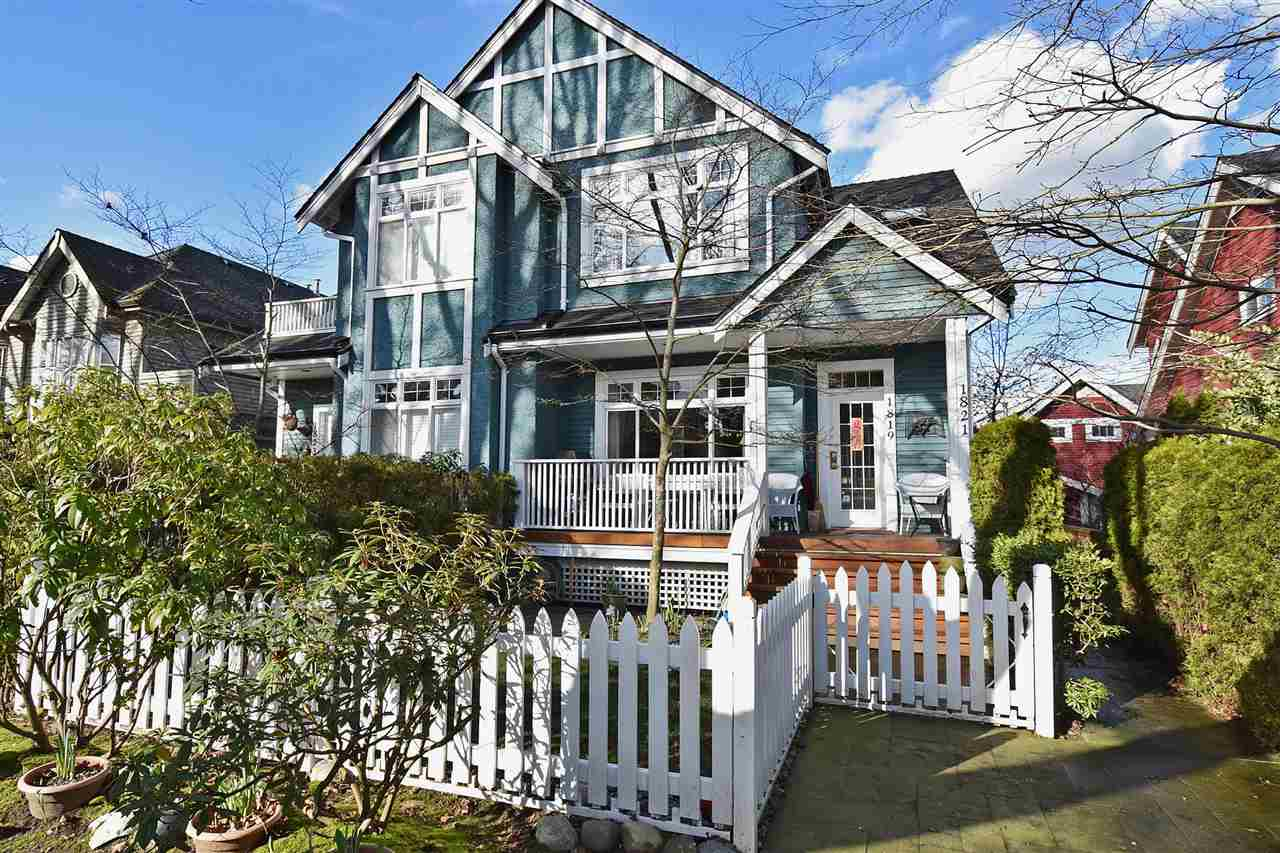 Main Photo: 1819 W 11TH Avenue in Vancouver: Kitsilano Townhouse for sale (Vancouver West)  : MLS® # R2043324