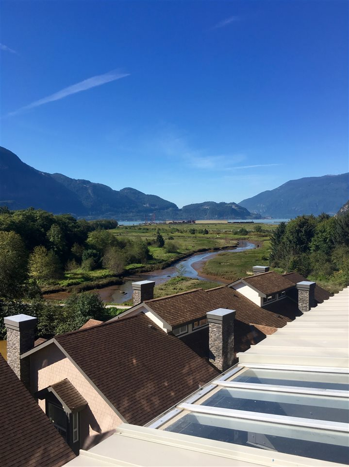 Estuary and Howe sound view from the unit looking south.