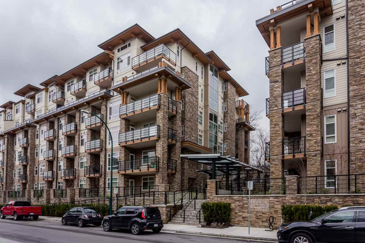 "Main Photo: 418 2495 WILSON Avenue in Port Coquitlam: Central Pt Coquitlam Condo for sale in ""Orchid Riverside Condos"" : MLS®# R2245484"