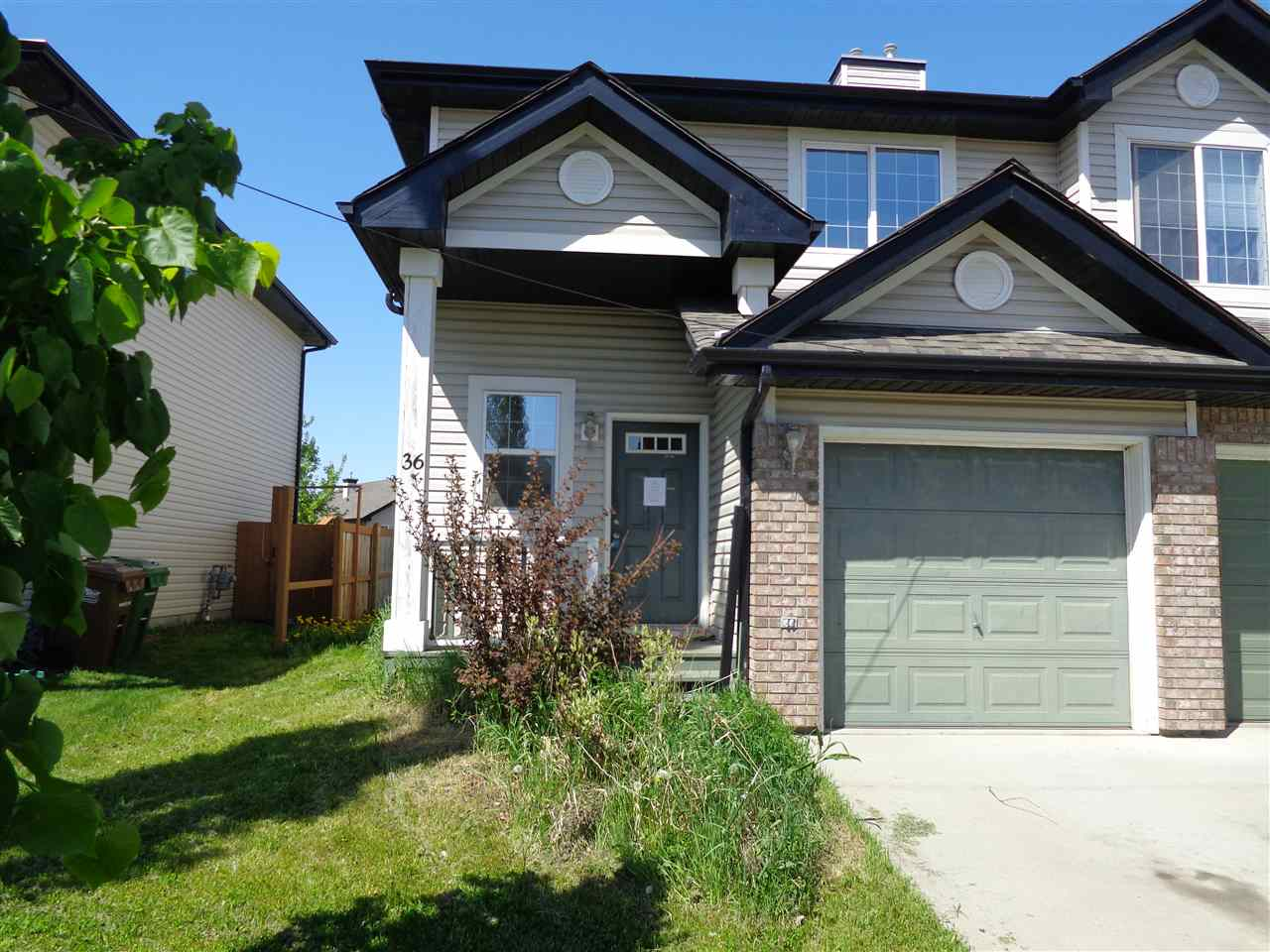 Main Photo: 36 NEVIS CL: St. Albert House Half Duplex for sale : MLS(r) # E4066497