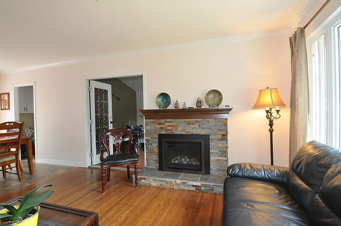 Original hardwood floor have been refinished and there is crown molding throughout the main