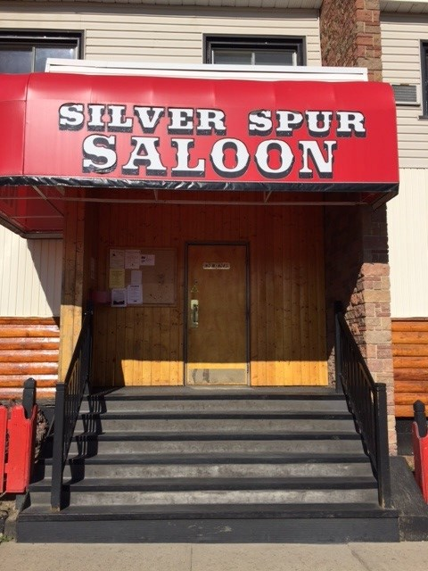 The Entrance to the Silver Spur Saloon