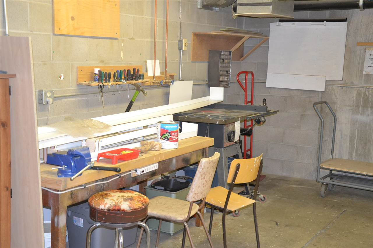 Carpentry Hobby and Craft room in basement.
