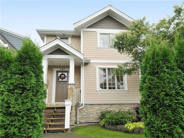 Main Photo: 440 AUBREY Place in Vancouver: Fraser VE House for sale (Vancouver East)  : MLS®# V911967