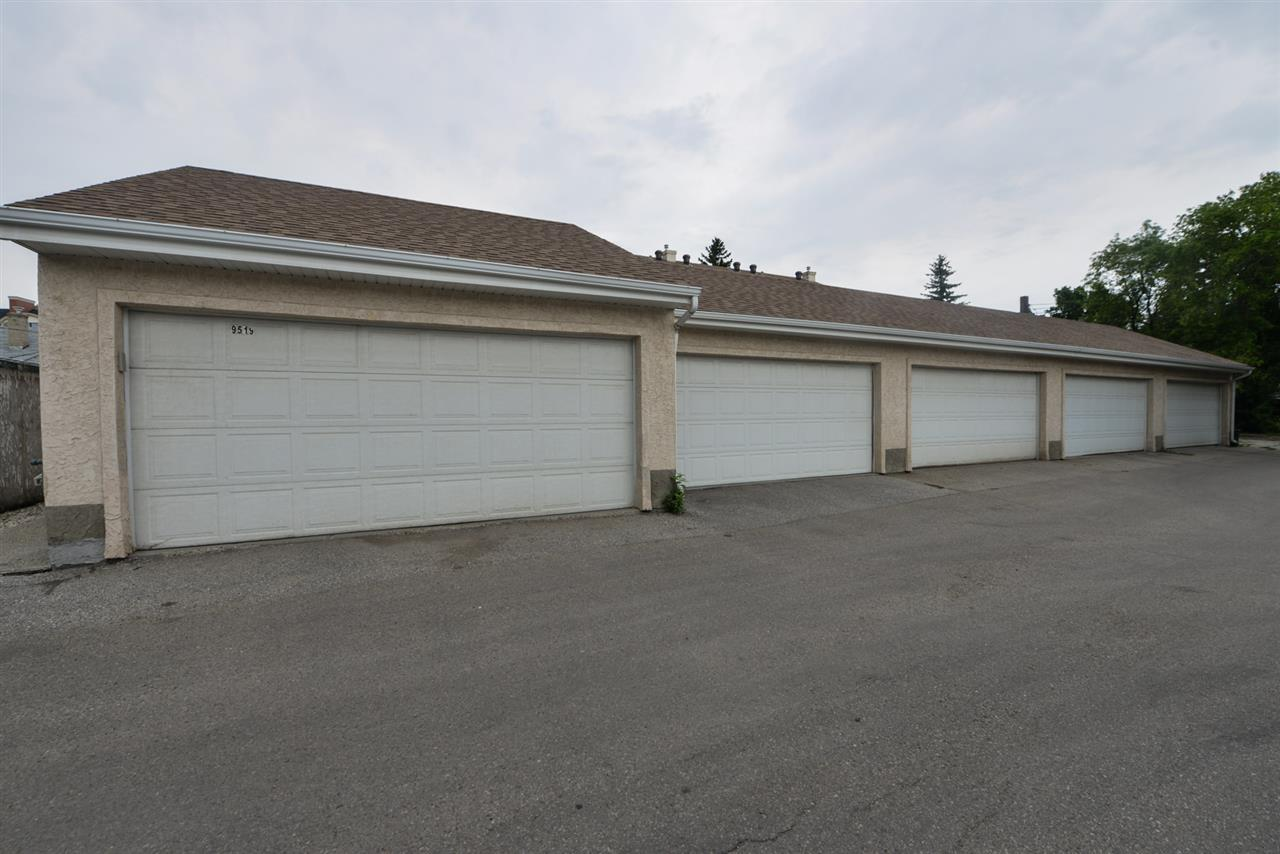 Titled double garage