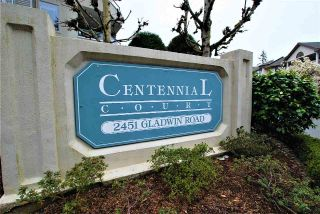 "Main Photo: 309 2451 GLADWIN Road in Abbotsford: Abbotsford West Condo for sale in ""CENTENNIAL COURT"" : MLS®# R2256922"