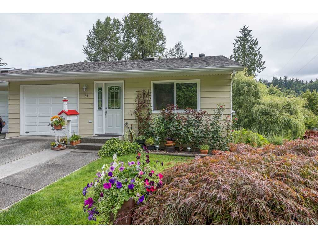 "Main Photo: 31 3350 ELMWOOD Drive in Abbotsford: Central Abbotsford Townhouse for sale in ""Sequestra"" : MLS®# R2092613"