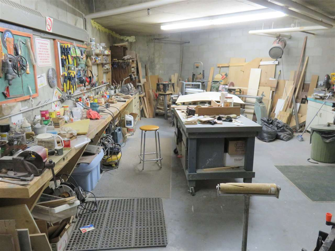 View of the basement Workshop! Free for you to use for any project that your wife still wants you to do?! lol..lol..