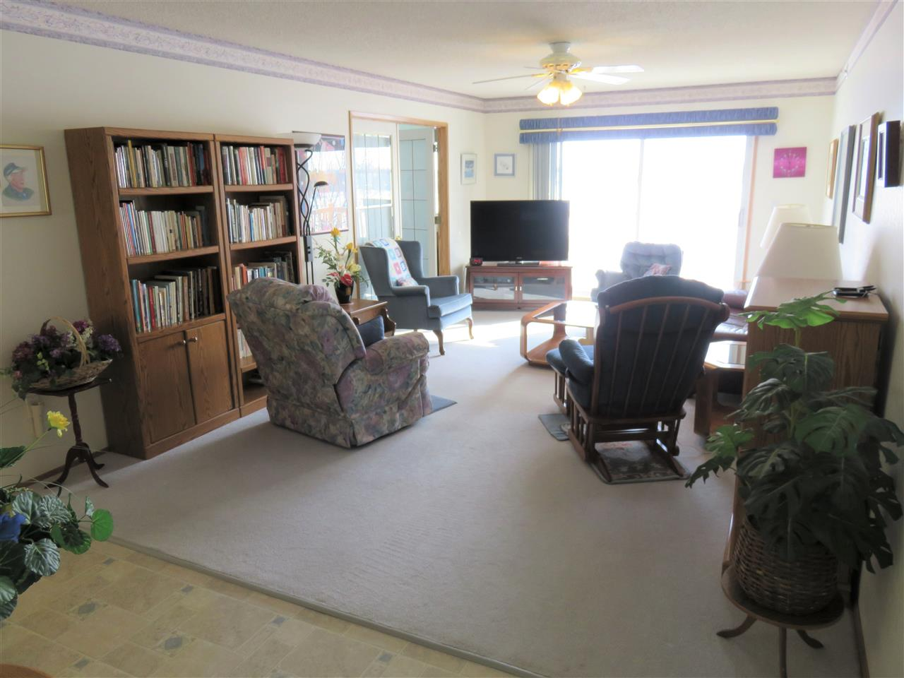 View of the large south facing Bright Living Room!