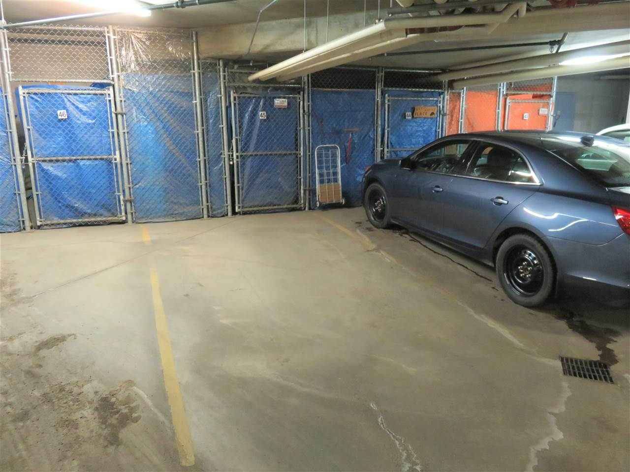 Here is the parking stall #45 for your unit that is located right across from the elevators in the underground heated parking! :)