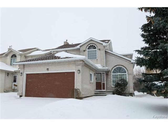 Main Photo: 73 Branson Crescent in WINNIPEG: Fort Garry / Whyte Ridge / St Norbert Residential for sale (South Winnipeg)  : MLS® # 1501009