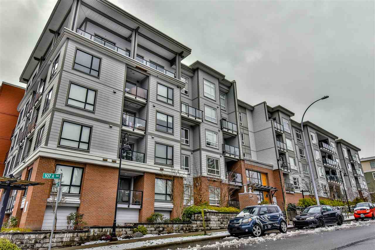 "Main Photo: 433 13733 107A Avenue in Surrey: Whalley Condo for sale in ""Quattro One"" (North Surrey)  : MLS(r) # R2144671"