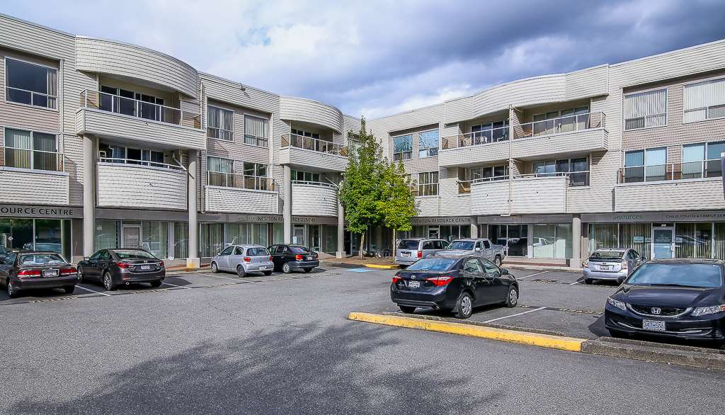 "Main Photo: 214 13771 72A Avenue in Surrey: East Newton Condo for sale in ""NEWTON PLAZA"" : MLS® # R2190687"