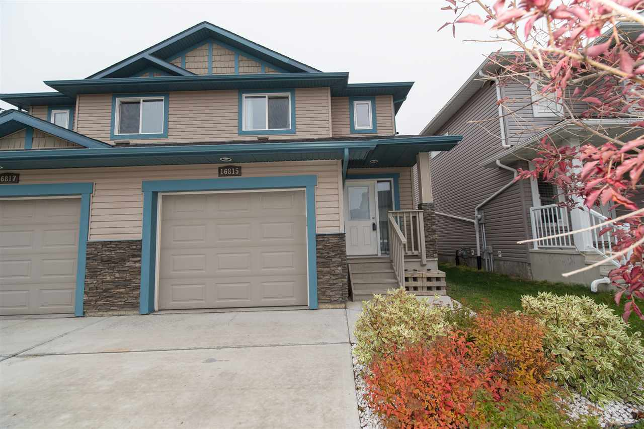 Main Photo: 16815 51 Street in Edmonton: Zone 03 House Half Duplex for sale : MLS® # E4085197