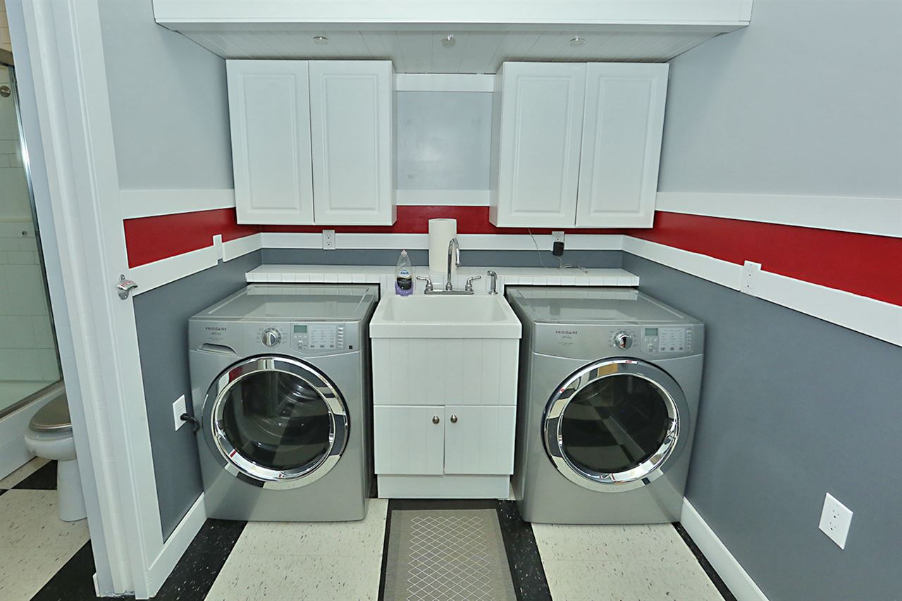 Laundry room in shop