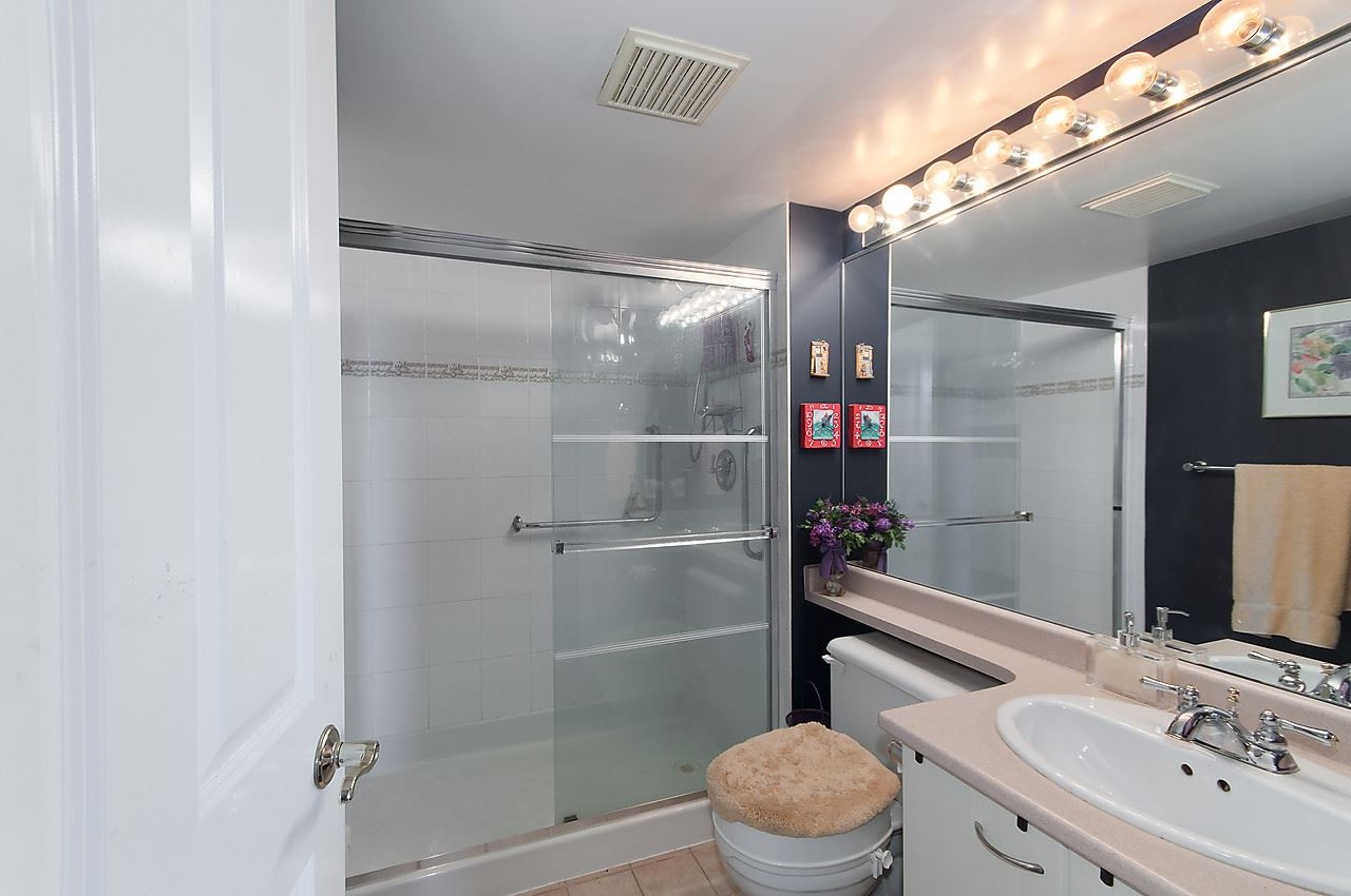 You will appreciate the double sized walk - in shower.