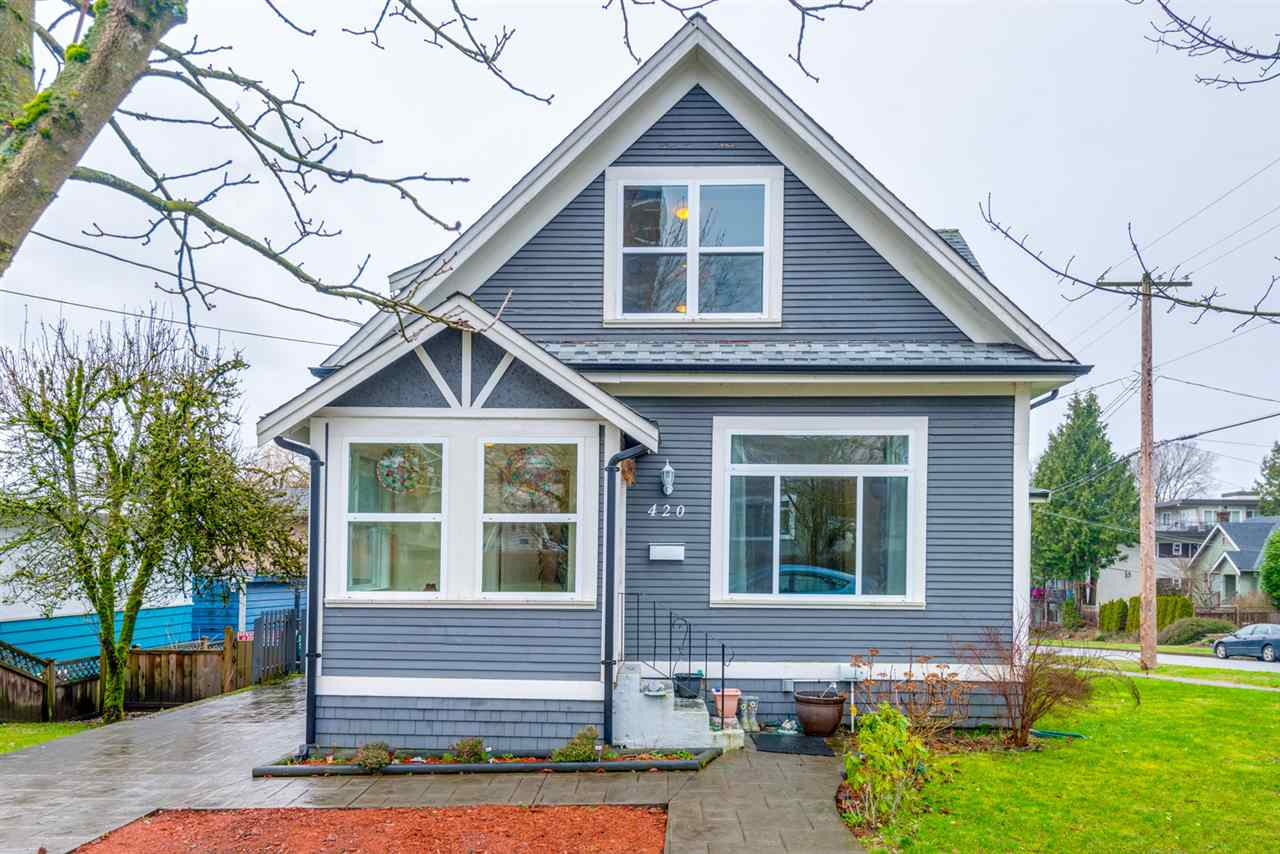 "Main Photo: 420 NINTH Street in New Westminster: Uptown NW House for sale in ""Uptown"" : MLS® # R2239714"