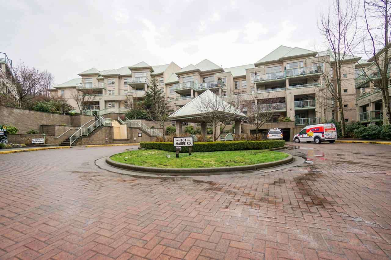 "Photo 1: 210A 301 MAUDE Road in Port Moody: North Shore Pt Moody Condo for sale in ""HERITAGE GRAND"" : MLS® # R2148075"