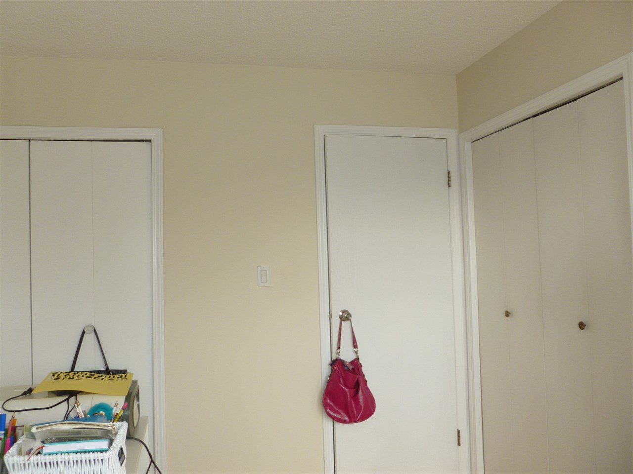 Bedroom has double closets