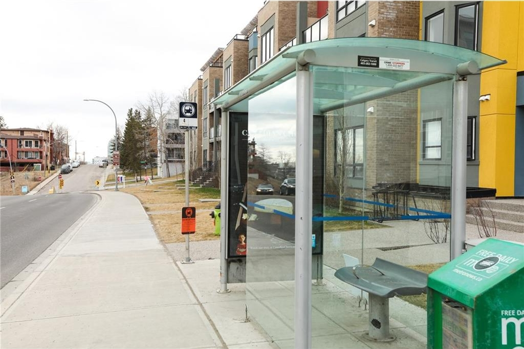 Bus stop into downtown steps away from unit.