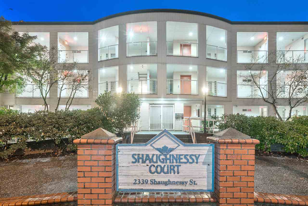 "Main Photo: 107 2339 SHAUGHNESSY Street in Port Coquitlam: Central Pt Coquitlam Condo for sale in ""Shaughnessy Court"" : MLS®# R2321182"