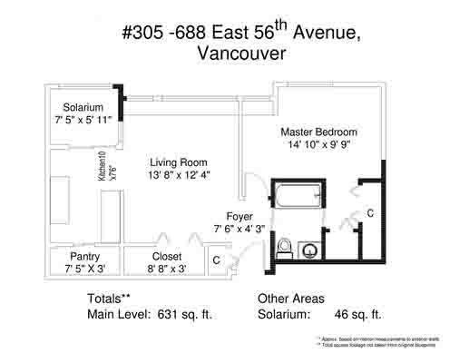 Photo 12: 305 688 E 56TH Avenue in Vancouver: South Vancouver Condo for sale (Vancouver East)  : MLS(r) # R2105598