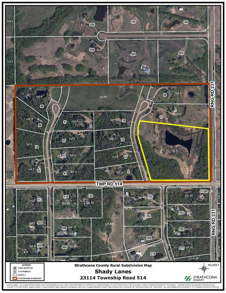 Main Photo: 1 2311 4 T 51 Road: Rural Strathcona County Rural Land/Vacant Lot for sale : MLS(r) # E4067000