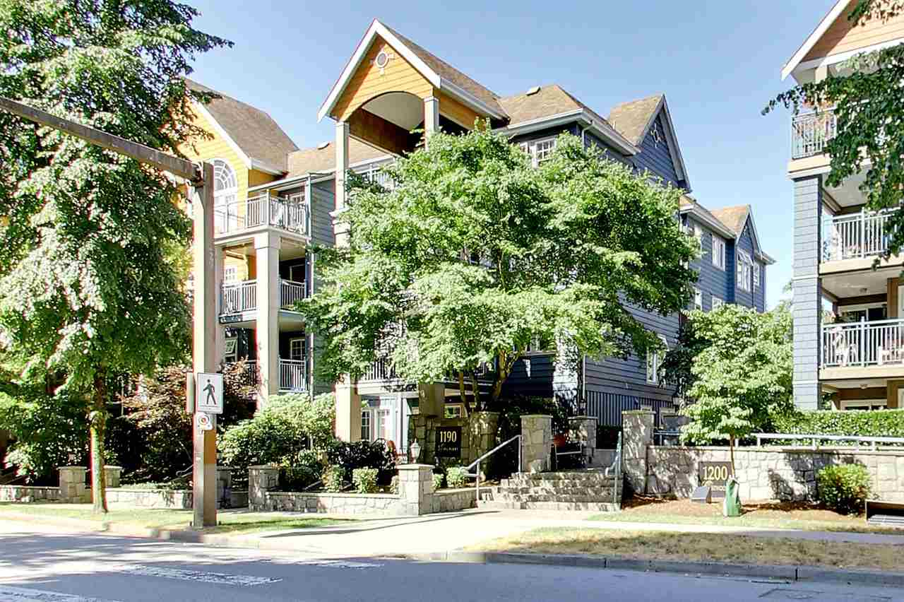 "Main Photo: 307 1190 EASTWOOD Street in Coquitlam: North Coquitlam Condo for sale in ""LAKESIDE TERRACE"" : MLS(r) # R2192237"