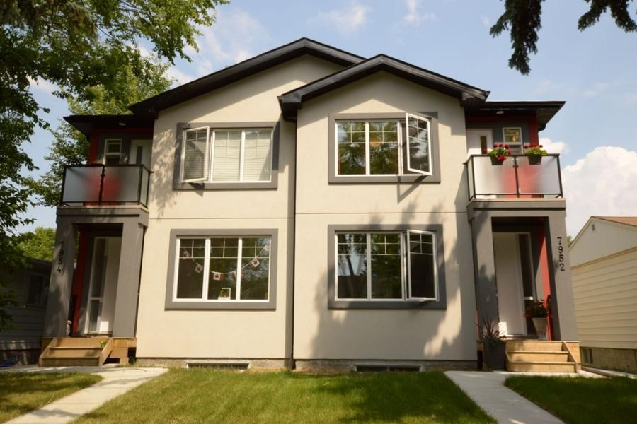 Main Photo: 7952 80 Avenue in Edmonton: Zone 17 House Half Duplex for sale : MLS(r) # E4072939