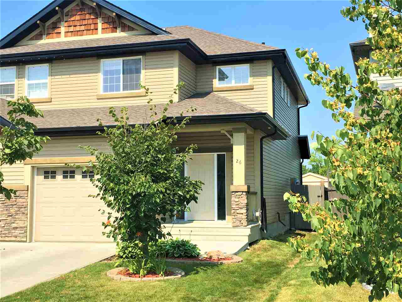 Main Photo: 26 CALVERT: Fort Saskatchewan House Half Duplex for sale : MLS(r) # E4073956