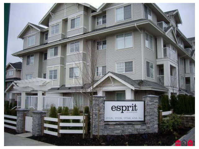 "Main Photo: 407 19320 65TH Avenue in Surrey: Clayton Condo for sale in ""ESPRIT"" (Cloverdale)  : MLS®# F1448189"
