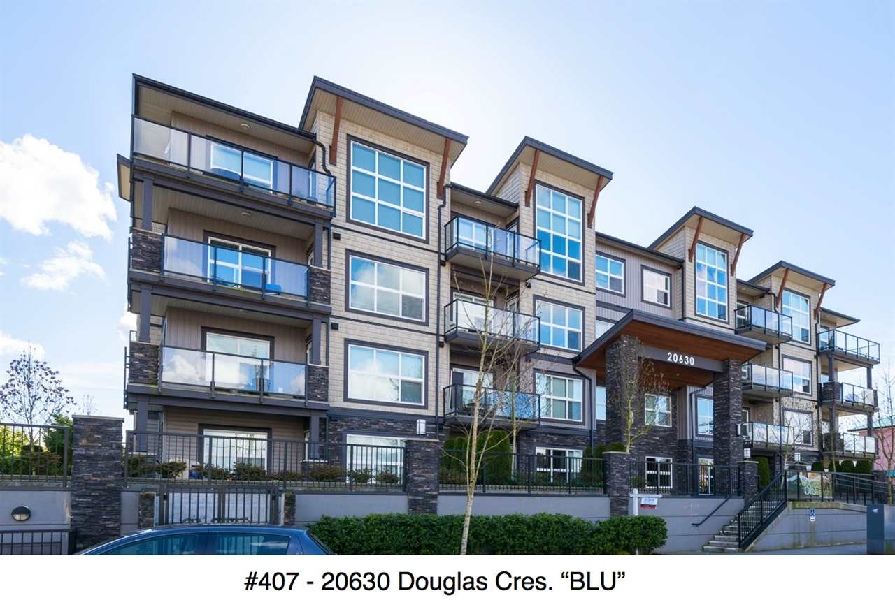 "Main Photo: 407 20630 DOUGLAS Crescent in Langley: Langley City Condo for sale in ""BLU"" : MLS® # R2049078"