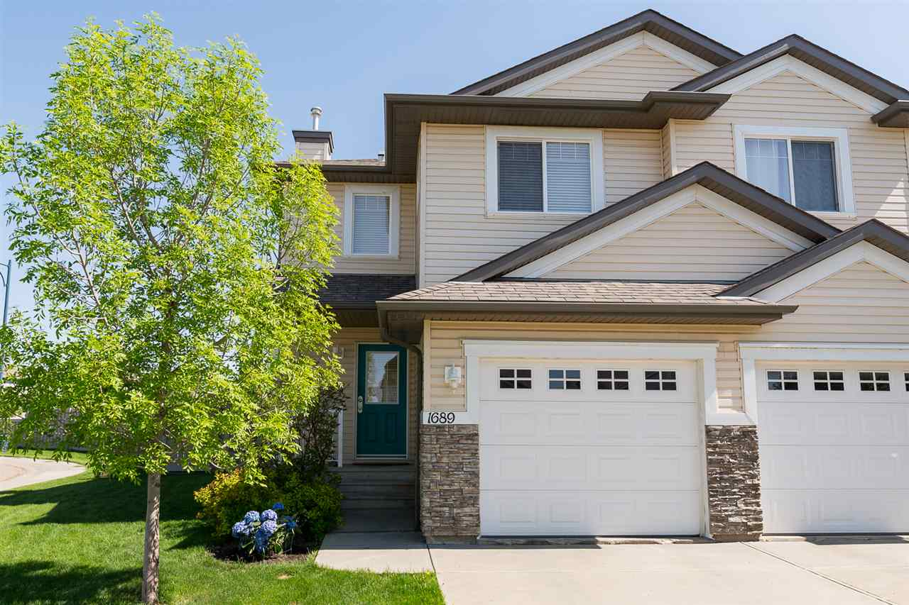 Main Photo: 1689 Melrose Place in Edmonton: Zone 55 House Half Duplex for sale : MLS® # E4059741