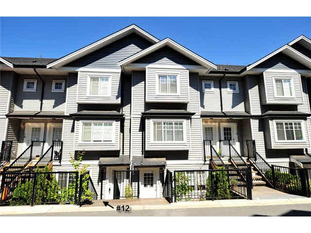 "Main Photo: 12 11255 132 Street in Surrey: Bridgeview Townhouse for sale in ""FRASERVIEW TERRACE"" (North Surrey)  : MLS® # R2054048"