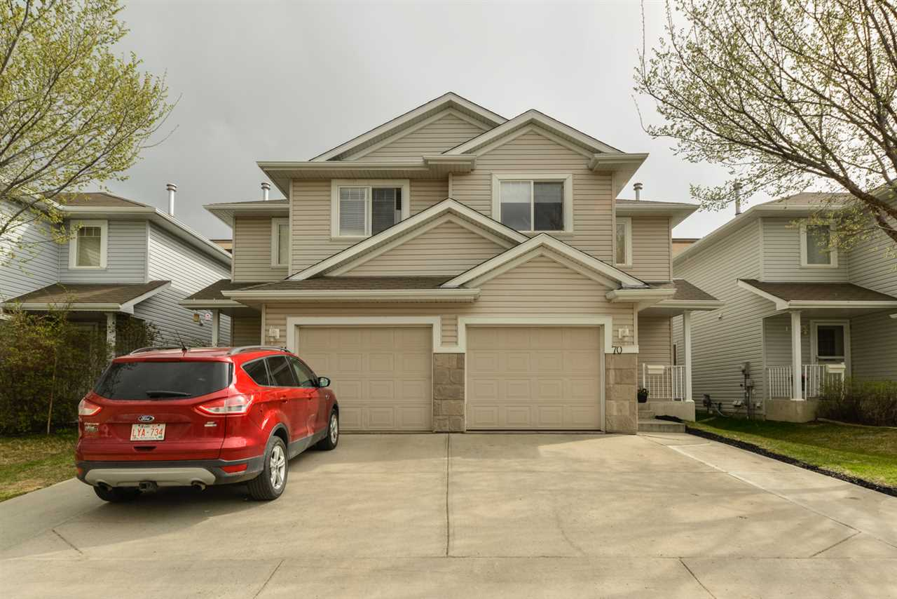 Main Photo: 70 2021 GRANTHAM Court in Edmonton: Zone 58 House Half Duplex for sale : MLS(r) # E4063538