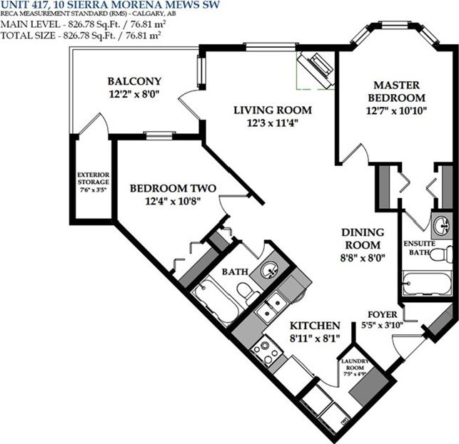 Floor Plan of the unit - Ask your agent for a detailed printout.
