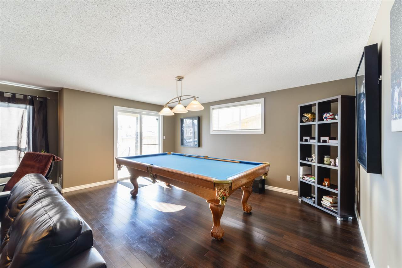remodelled basement comes with pool table