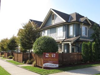 "Main Photo: 5 6635 192 Street in Surrey: Clayton Townhouse for sale in ""Leaf Side"" (Cloverdale)  : MLS® # R2209780"